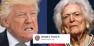 Trump and Barbara Bush